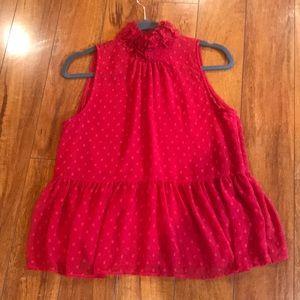 Sheer Red Zara Top